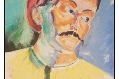 """""""HM 'Fauvism', Andre"""" by Bonnie Lamarand ~ Acrylic ~ $200"""