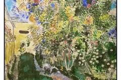 """""""The Garden of the Asylum at Saint Remy"""" by Geri McSwain ~ Acrylic ~ $100"""