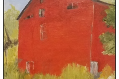 """""""The Red Barn... Again"""" by Bonnie Stevens ~ Acrylic ~ Not for Sale"""