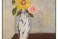 """""""The Blue Vase"""" by Cat Young ~ Acrylic ~ $275"""