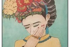 """Frida"" by Janice Espie-Steffen ~ Watercolor ~ $175"