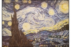 """Van Gogh's Starry Night"" by Brenda Bigelow ~ Art Quilt ~ Not for Sale"