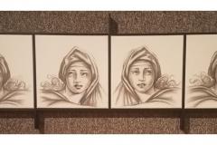 """Modern Sibilas"" by Yeltza Diaz ~ Mixed Media ~ $800"