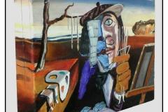 """""""When Art Imitates Art"""" by Hamed Mahoodi ~ Oil/Mixed Media ~ $4000"""