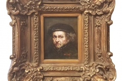 """""""My Small and Very Particular Tribute to Rembrandt"""" by Aldo Muzzarelli ~ Oil ~ Not for Sale"""