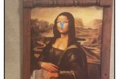 """Mirror Image"" by Hamed Mahmoodi ~ Oil/Mixed Media ~ $6000"