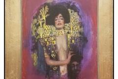 """""""My Personal and Discreet Acrylic Tribute to Klimt"""" by Aldo Muzzarelli ~ Acrylic ~ $1000"""