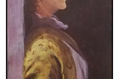 """""""Portrait of Dorothy Barnard aka Debbie Rote"""" by Debbie Rote ~ Acrylic ~ $150"""