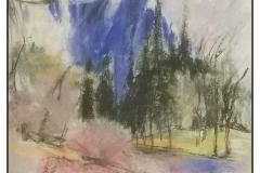 """El Capitan (blue) Wolf Kahn"" by Beti Strobeck ~ Pastel ~ $400"