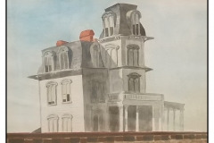 """""""House by the Railroad"""" by Scott MacInnis ~ Watercolor ~ Not for Sale"""