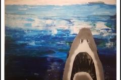 """""""Jaws"""" by Patsy Johnson ~ Mixed Media ~ SOLD"""