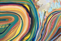 """Afternoon Tuft Choreography"" - Acrylic by Lisa Shimko - $700"