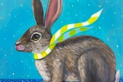 """""""Cozy Rabbit II"""" - Acrylic by Lisa Shimko - $75"""