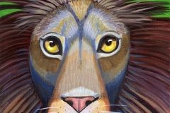 """Dream Gaze - Lion I"" - Acrylic by Lisa Shimko - $75"