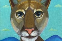 """Dream Gaze - Mountain Lion I"" - Acrylic by Lisa Shimko - $75"