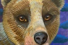 """Dream Gaze - Night Bear"" - Acrylic by Lisa Shimko - $75"