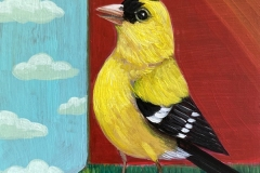 """""""Goldfinch View"""" - Acrylic by Lisa Shimko - $60"""