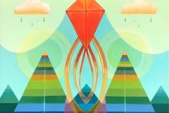 """Kite"" - Acrylic by Lisa Shimko - $500"
