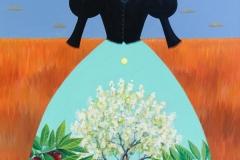 """Mourning Dress Cherry Tree"" - Acrylic by Lisa Shimko - $2000"