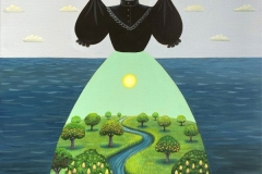 """Mourning Dress Orchard"" - Acrylic by Lisa Shimko - $700"
