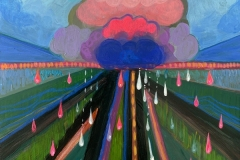 """Rain Garden Cloud II"" - Acrylic by Lisa Shimko - $75"