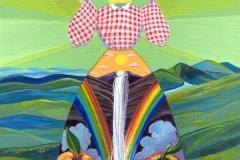 """Rainbow Falls Dress"" - Acrylic by Lisa Shimko - $500"