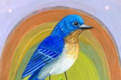 """Sherbet Bluebird"" - Acrylic by Lisa Shimko - $60"