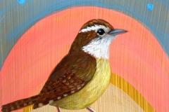 """Sherbet Carolina Wren"" - Acrylic by Lisa Shimko - $60"