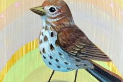 """Sherbet Sparrow"" - Acrylic by Lisa Shimko - $60"