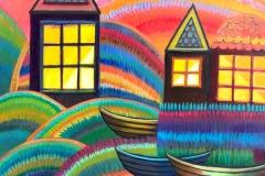 """Harbor"" - Acrylic by Lisa Shimko - $250"