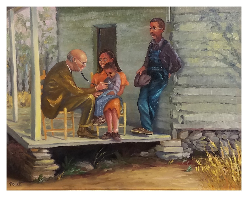 """""""Late Afternoon House Call"""" by Cynthia Pollett"""