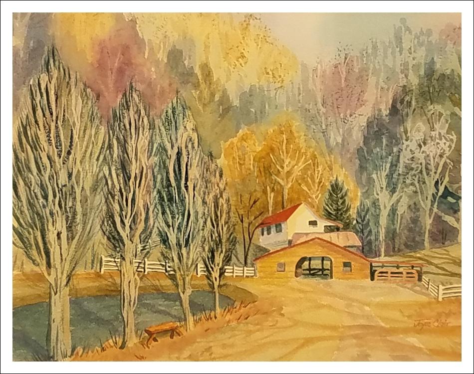 """Valley Farm in Spring"" by Joyce Clair"