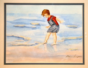 At the Seashore WATERCOLOR Elaine Simpson
