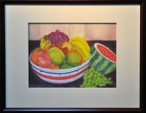 Fruit Bowl PASTEL Lorraine Martinie