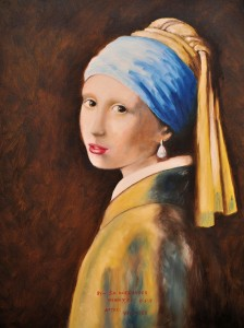 Girl With a Pearl Earring OIL Jim Alexander