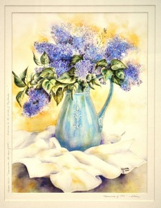 Lilacs Memories of Old WATERCOLOR Anita Seitz