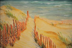 PAINTED LADIESSummer Beach WATERCOLOR Karen Drake