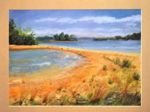 The Enf of the Trail PASTEL Gail Rabai
