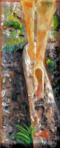 Walking Barefoot ACRYLIC Abstract Alexandra