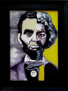 President Speaker with Abraham Lincoln and Frederick Douglas  Patsy Johnson
