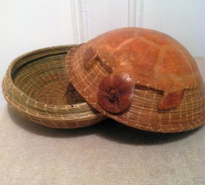 Dorothy Meredith Ode to Turtle  pine needles and gourd