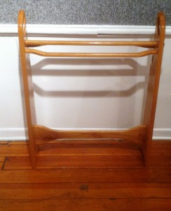 Ed Tucker Quilt Rack wood