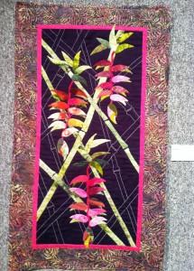 Joan Krech Hot Pink Heliconias fiber