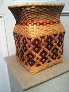 Julie Lamp Cherokee Urn  basketry