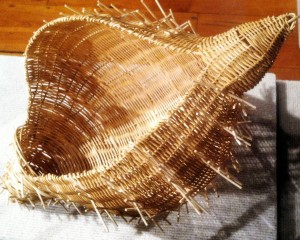 Julie Lamp Seashell basketry