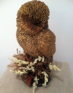 Marion Fanning Barn Owl  seeded armtiture