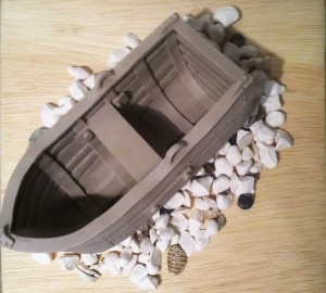 Wendy Converse Nothing But Dirt-Boat unfired clay
