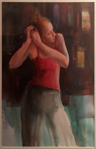 Beti Strobeck  Girl with a Pink Top Watercolor  $350