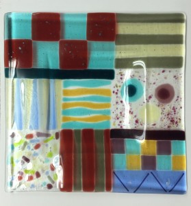 Diane Bartlett Glass Plate Fused Glass  $89