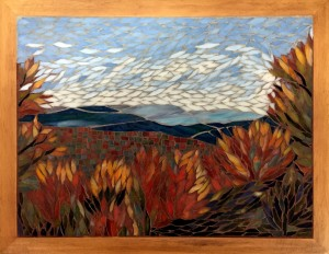 Donna Mayeur View From Jocassee Glass Mosaic  NFS